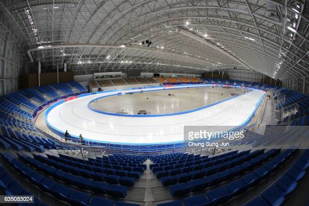The general view of the Gangneung Oval venue for Speed Skating ahead of PyeongChang 2018 Winter Olympic Games on February 8 2017 in Gangneung South...