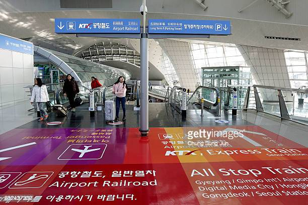 The general view of the Incheon International Airport ahead of PyeongChang 2018 Winter Olympic Games on January 12 2017 in Incheon South Korea