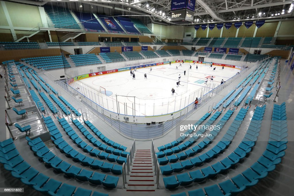 The general view of the Kwandong Hockey Centre, venue for the Ice Hockey ahead of PyeongChang 2018 Winter Olympic Games on April 8, 2017 in Gangneung, South Korea.