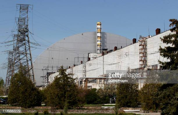 The general view of the New Safe Confinement covering the 4th block of the Chernobyl Nuclear power plant during the anniversary. Ukrainians marked...