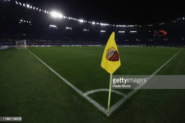 The general view of the Stadio Olimpico before the UEFA Europa League group J match between AS Roma and Wolfsberger AC at Stadio Olimpico on December...