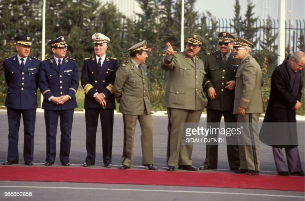 The generals of the Algerian army general Lamari is the big man