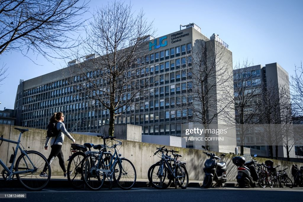 The Geneva University Hospitals buildings are seen on
