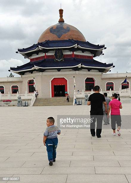 The Genghis Khan Mausoleum is located about two hours outside of Baotou near the ghost city of Ordos Designed to resemble three Mongolian gers or...