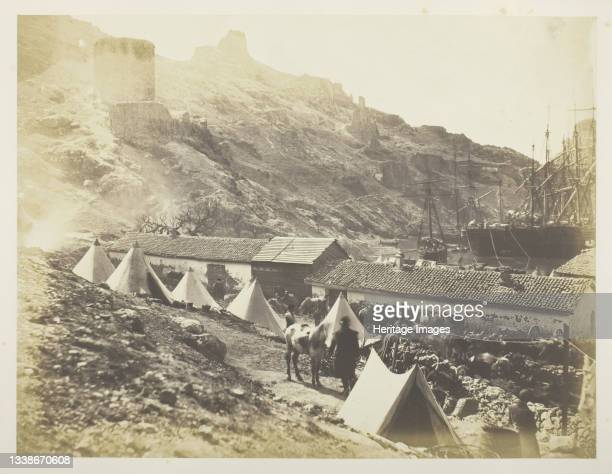 The Genoese Castle, Balaklava, 1855. A work made of salted paper print, plate 12 from the album 'photographs taken in the crimea' . Artist Roger...