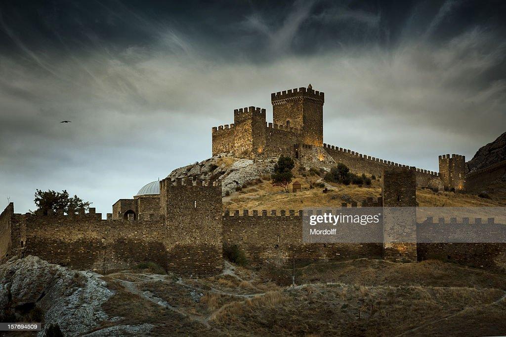 The Genoese Medieval fortress in Sudak, Crimea : Stock Photo