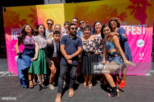 The Gentefied Cast and Crew including Aaliyah Williams Alicia Sixtos Art Bonilla Eduardo Roman Jennifer Lorenzo Josefina Lopez Laura Patalano Linda...