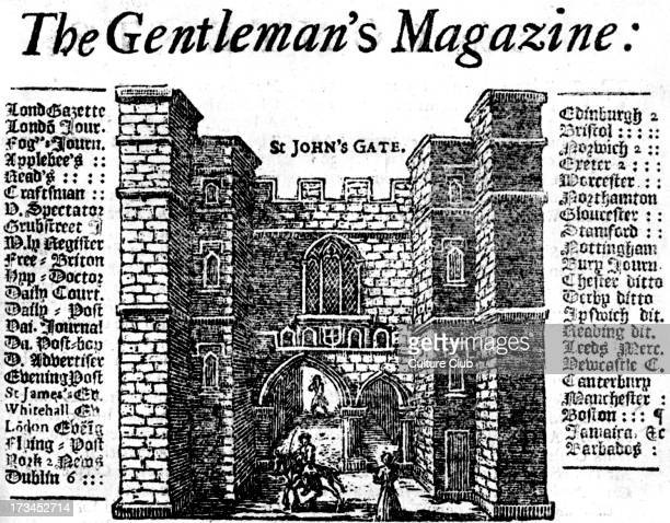 The Gentleman 's Magazine Vol I 1731 Detail from the front page St John's Gate