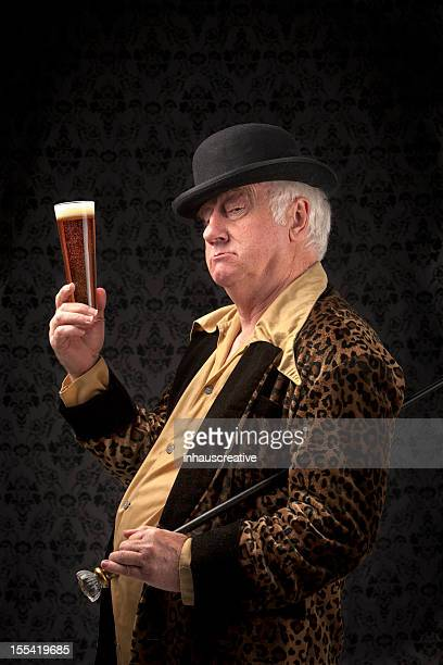 the gentleman's toast - pimp stock photos and pictures