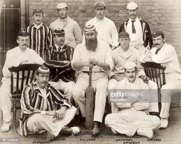 The Gentlemen cricket team prior to the Gents v Players match at The Oval in London on 2nd July 1891 The Gentlemen won by an innings and 54 runs Left...