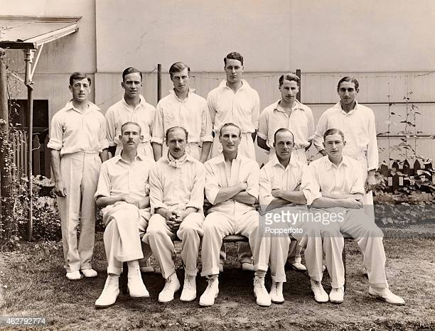 The Gentlemen photographed at Lord's cricket ground in London prior to the annual match against the Players on 19th July 1933. The Players won by 10...
