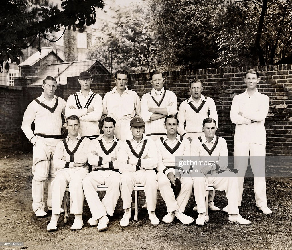 The Gentlemen Amateurs Photographed At Lords Cricket Ground In London Prior To The Annual