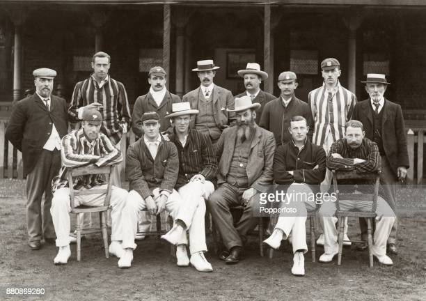 The Gentlemen's cricket team prior to their match against The Players at the Hastings Festival circa September 1901 The match ended in a draw Left to...