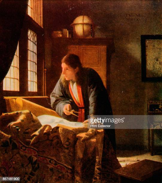 The Geographer' Painting held at the St‰del Museum Frankfurt From Bibby's Annual 1911 [J Bibby Sons Liverpool 1911] Artist Jan Vermeer