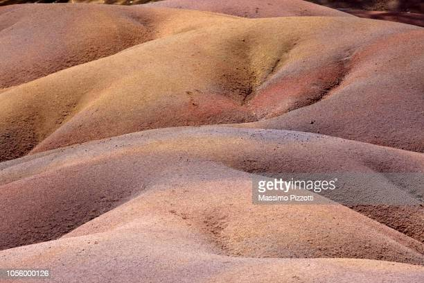 The geological formation called Seven Coloured Earths in the Chamarel plain, Mauritius