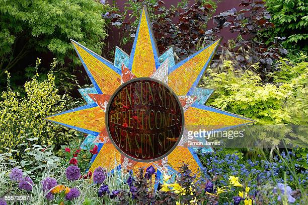 The George Harrison tribute garden at the RHS Chelsea Flower Show in Chelsea on May 19, 2008 in London, England.