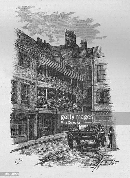The George Inn Borough' 1890 From Picturesque London by Percy Fitzgerald [Ward Downey London 1890] Artist Unknown