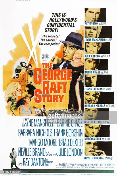 The George Raft Story poster US poster center from left Ray Danton Jayne Mansfield right from top Ray Danton Jayne Mansfield Julie London Barrie...