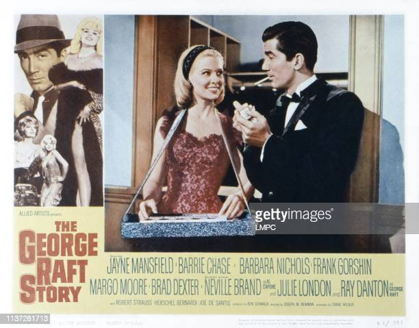 The George Raft Story US lobbycard from left Ray Danton Jayne Mansfield bottom from left Julie London Barbara Nichols center from left Margo Moore...