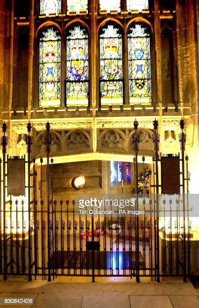 The George VI Memorial Chapel in St George's Chapel, Windsor, where Queen Elizabeth, the Queen Mother was intered, after her funeral in Westminster...