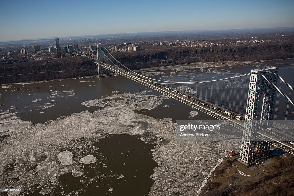 The George Washington Bridge, which connects Fort Lee, NJ, and New York City, is seen on January 9, 2014 in Fort Lee, New Jersey. New Jersey Governor Chris Christie is currently caught in a political scandal, in which one of his aides ordered The Port Authority of New York and New Jersey to purposely cause traffic jams at the on-ramps to the George Washington Bridge in Fort Lee, NJ, due to political disagreements between Governor Christie and the mayor of Fort Lee. Christie claims he had no knowledge of issue and has since fired the aide.