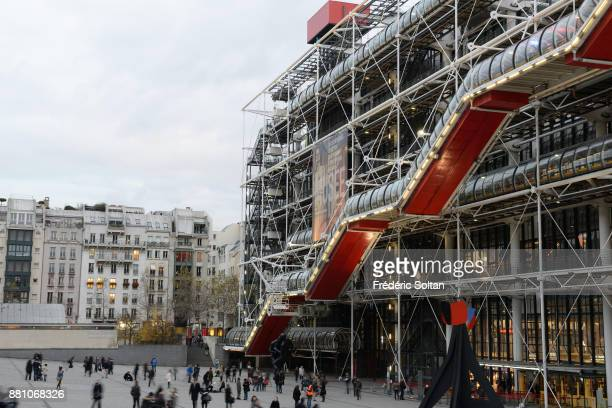 The Georges Pompidou Center in Paris. The Centre Georges Pompidou and the Quartier de l'Horloge, located in the Beaubourg area of the 4th...