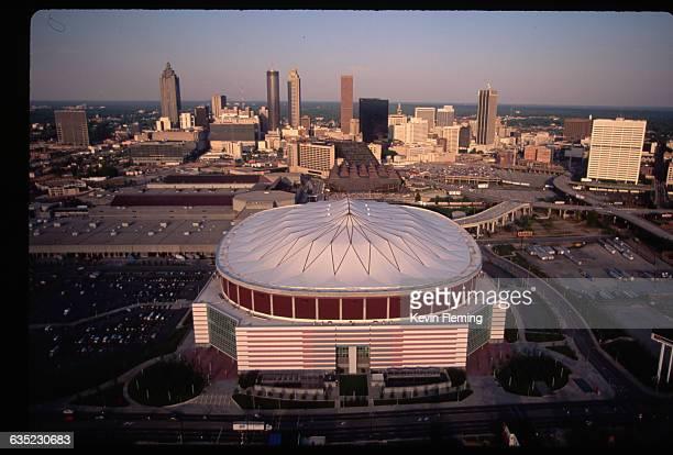 The Georgia Dome home of the Atlanta Falcons football team in Atlanta Georgia