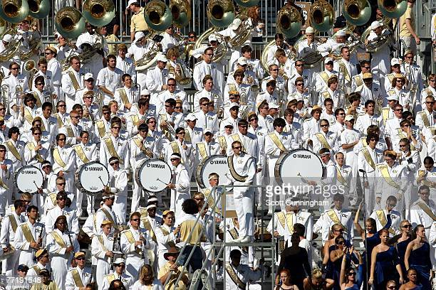 The Georgia Tech Yellow Jackets Band watches play against the Clemson Tigers at Bobby Dodd Stadium on September 29, 2007 in Atlanta, Georgia. Georgia...