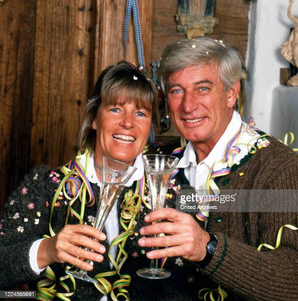 The german actor Siegfried Rauch together with his wife Karin, Germany, 1980.