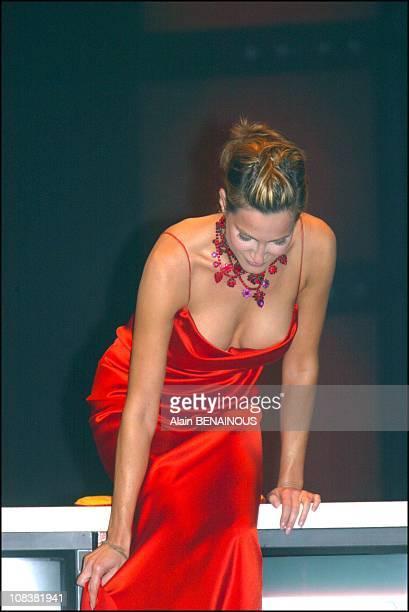 The German actress Alexandra Kamp friend of Albert of Monaco in Monaco on July 01 2002