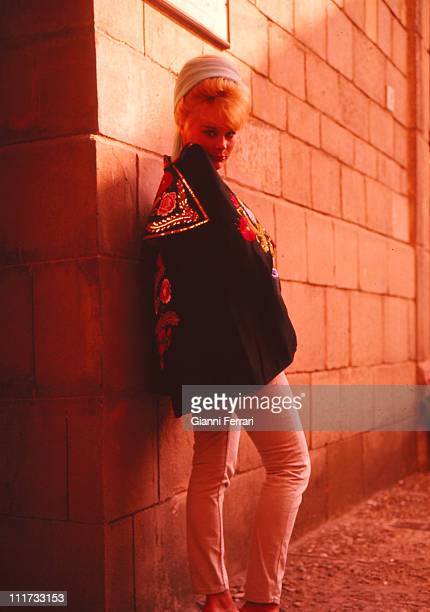 The german actress Elke Sommer during a photo shoot for the press Barcelona, Spain. .