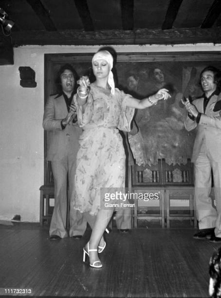 The german actress Nadiuska in a flamenco show Madrid Spain