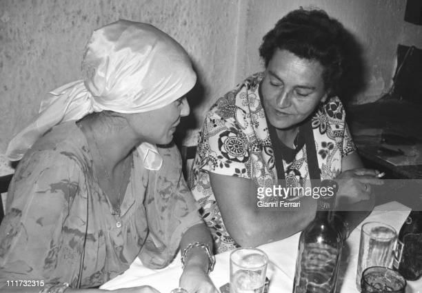 The german actress Nadiuska with her mother Madrid Spain