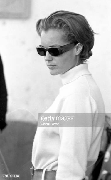 The German actress Romy Schneider in Madrid Spain