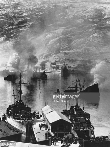 The German capture of Narvik in Norway's far north was actually quite costly for the German Navy resulting in the sinking and/or scuttling of 10...