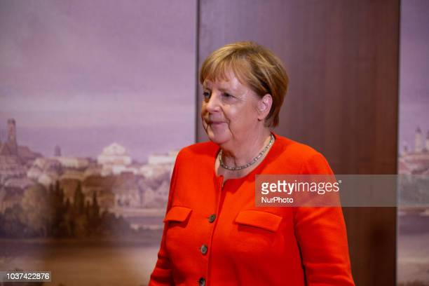 The German chancellor and head of the Christian Democratic Union Angela Merkel gave a statement on the talks with the head of the Christian Social...