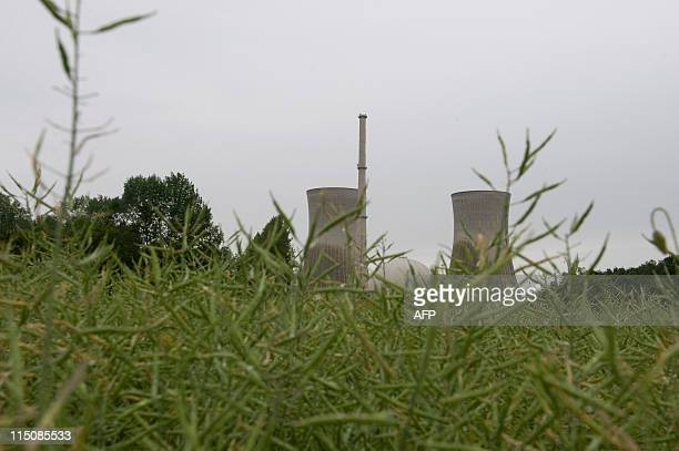 The German EON nuclear power station can be seen near the southern German town of Grafenrheinfeld on June 1 2011 With an annual output in excess of...