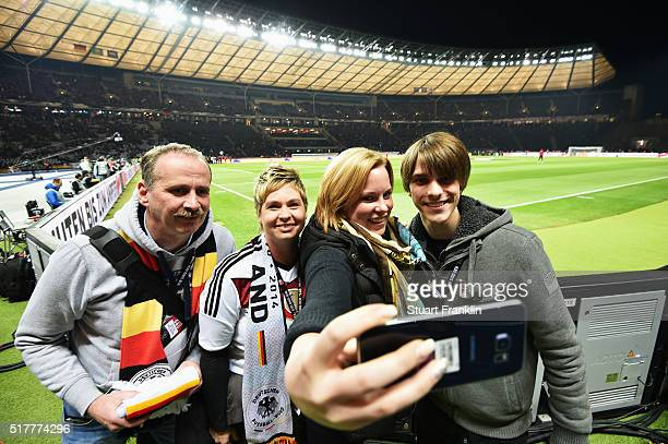The German Fan Club 'Fantastic' moment tour prior to the international friendly match between Germany and England at Olympiastadion on March 26 2016...
