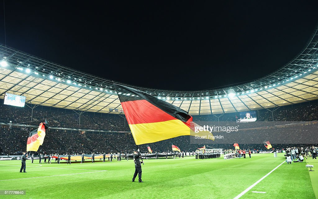 The German Fan Club prior to the international friendly match between Germany and England at Olympiastadion on March 26, 2016 in Berlin, Germany.
