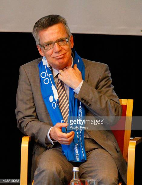 REGENSBURG BAVARIA GERMANY The German Federal Minister of the Interior Thomas de Maiziere is pictured at a panel discussion about Catholic...