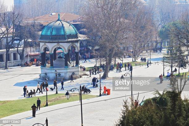 the german fountain - istanbul province stock photos and pictures