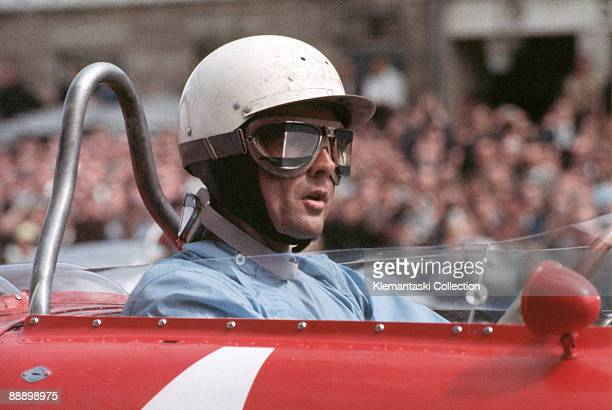 The German Grand Prix; Nürburgring, August 6, 1961. Phil Hill waits for the start. He would finish one second behind his teammate Wolfgang von Trips...