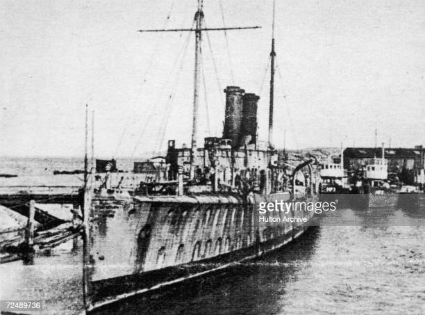 The German gunboat Panther which arrived at Agadir Morocco on 1st July 1911 to back the Spanish fleet against the French during a political crisis...