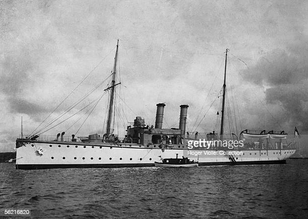 The german gunboat 'The Panther' in Agadir as the frenchgerman agreements of Algesiras were contested July 1911