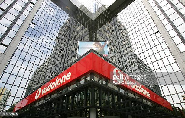 The German headquarters of British mobile telephone giant Vodafone is seen May 24 2005 in Duesseldorf Germany Vodaphone announced a three percent...