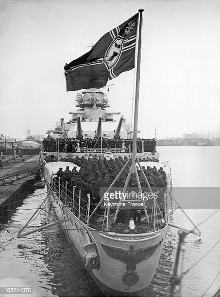 The German Liner Admiral Graf Spee Being Put Into Service On January 9 In Wilhelmhaven Harbour In LowerSaxony Where It Was Built