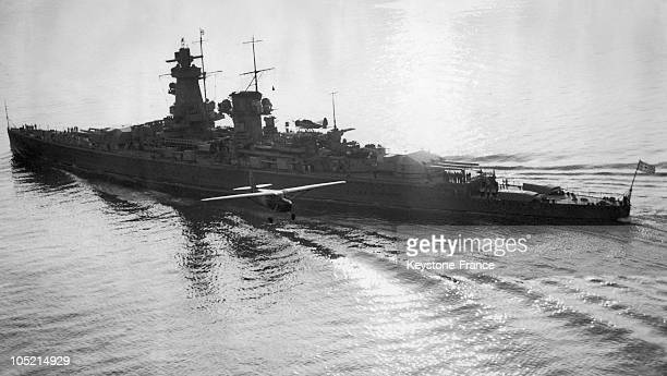 The German Liner On April 20 Navigating On The English Channel On Its Way To Spain Where It Was To Participate In The First Naval Operations Against...