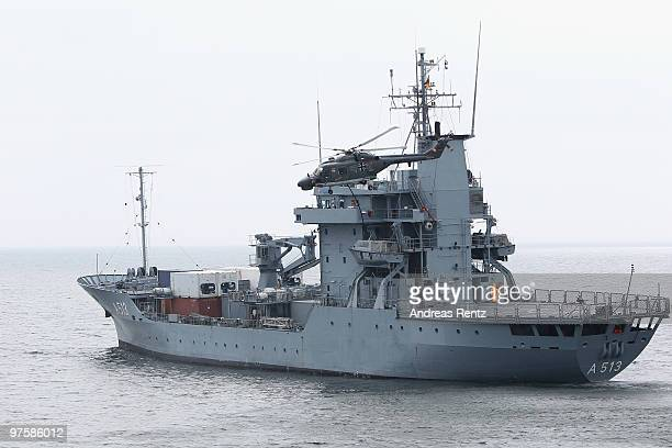 The German navy demonstrating an exercise so called Maritime Interdiction Operation on March 9 2010 in Eckernfoerde Germany German Defense Minister...