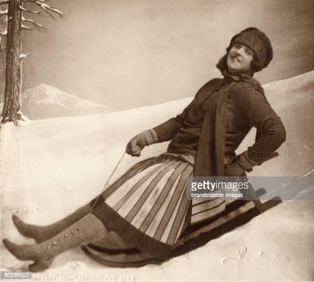 The German opera singer Lotte Lehmann as Christine in the opera Intermezzo by Richard Strauss Vienna Photograph 1927 [Die deutsche Opernsngerin Lotte...