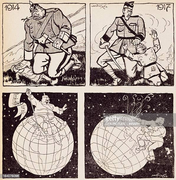 The German path satirical cartoon from Numero magazine 5 August Turin World War I Italy 20th century Milan Biblioteca Comunale Centrale Di Palazzo...